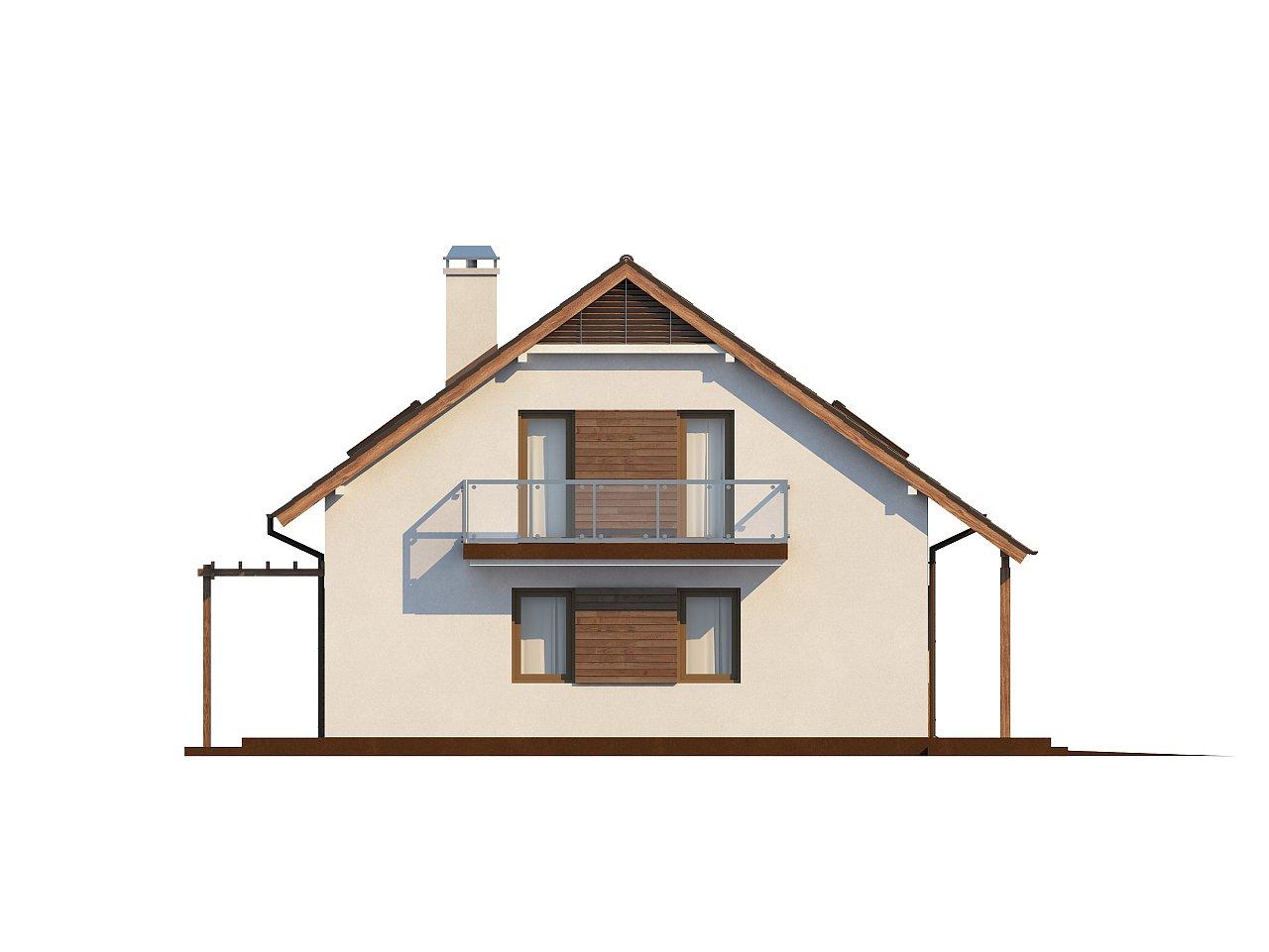 Практичный дом с мансардой, встроенным гаражом и дополнительной спальней на первом этаже. - фото 5