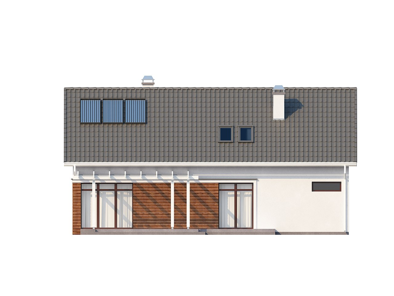Дом со встроенным гаражом, красивым мансардным окном и вторым светом над гостиной. - фото 11