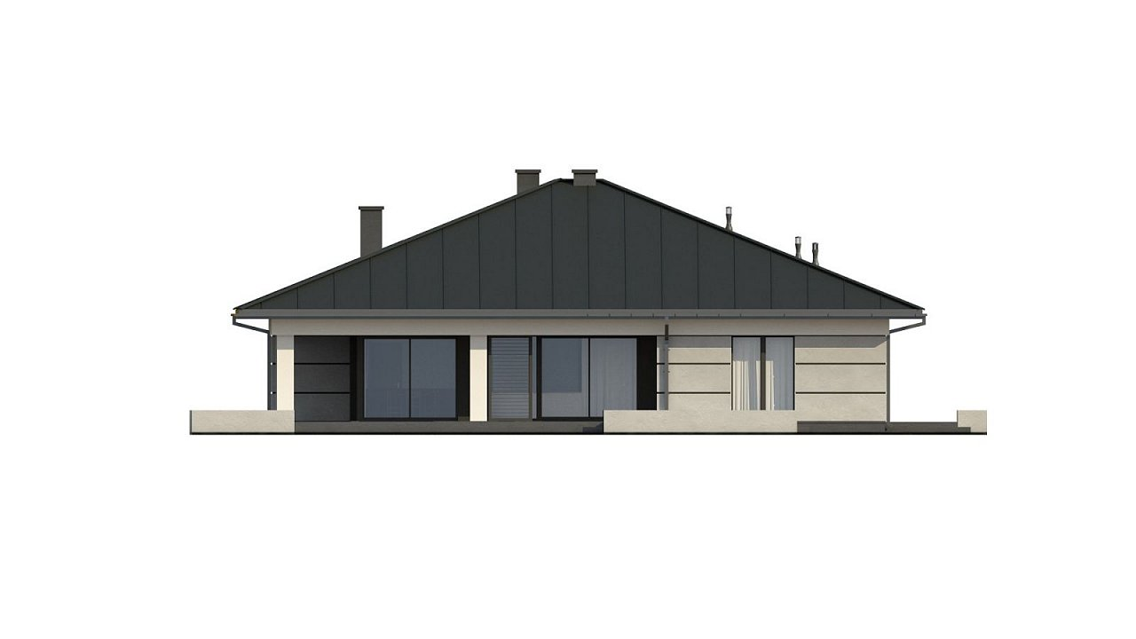 Проект одноэтажного дома с гаражом на две машины - фото 19