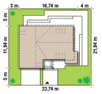 Просторный и комфортный дом с гаражом для двух автомобилей и угловым эркером. план помещений 1