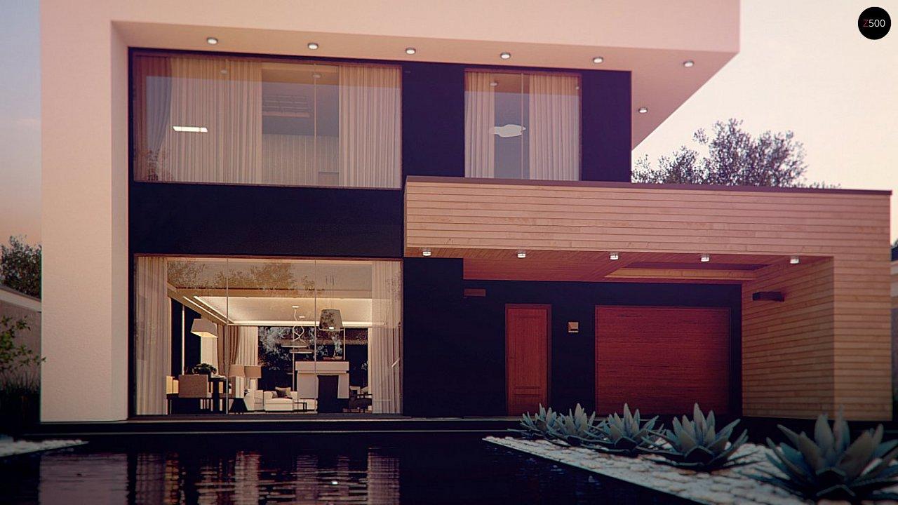 Респектабельный большой дом в модернистском стиле с подвалом. 4