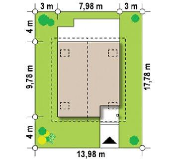 Предложение выгодного и практичного дома, подходящего для удлиненного или, наоборот, неглубокого участка. план помещений 1