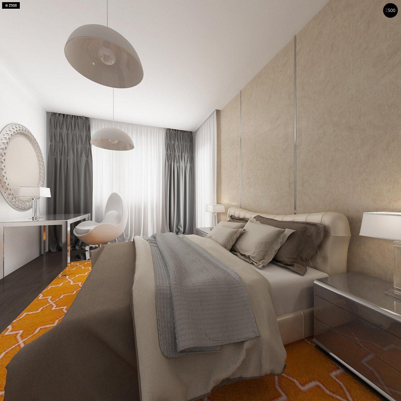 Проект удобного одноэтажного дома с гаражом для двух автомобилей и большим хозяйственным помещением. 11
