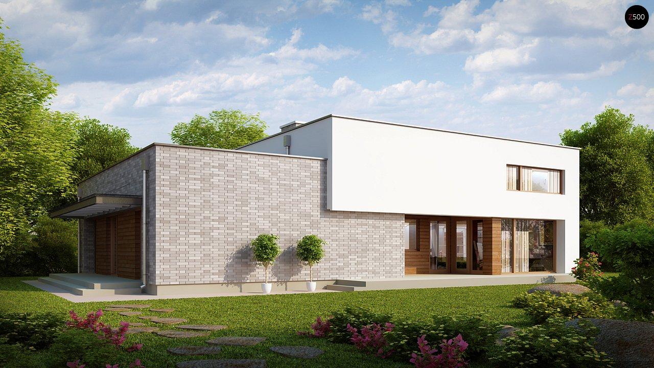 Одноэтажный практичный дом с плоской крышей современного дизайна. 2