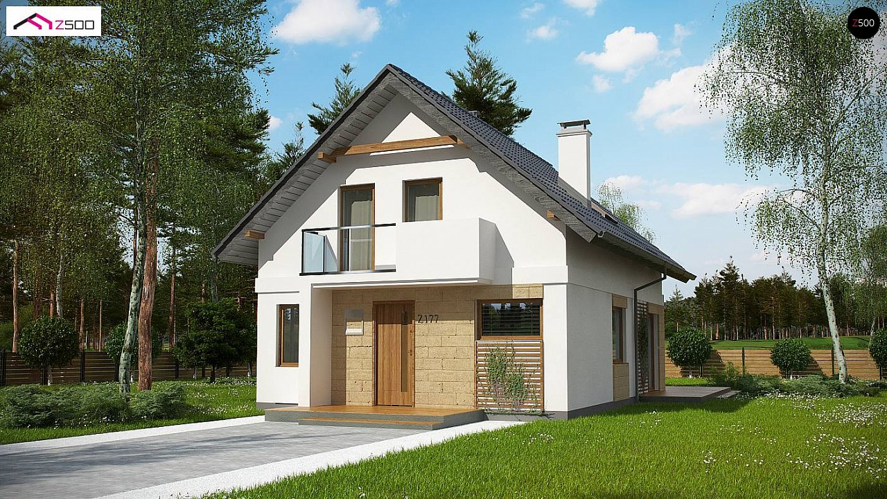 Проект мансардного дома с 4 спальнями и кабинетом. - фото 3