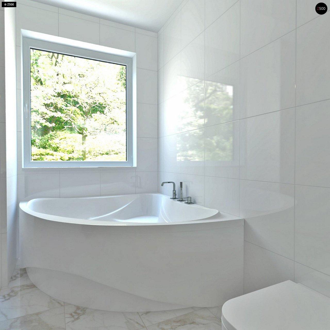 Проект компактного двухэтажного дома строгого современного стиля. 16