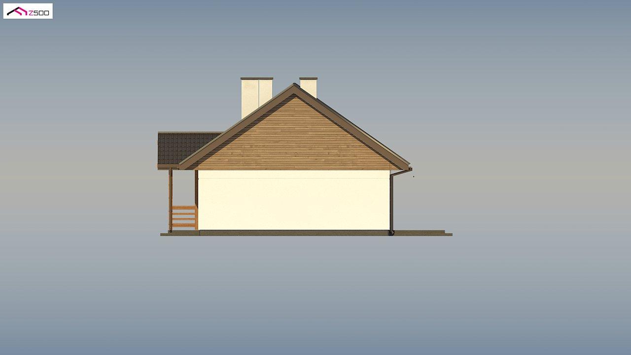 Аккуратный одноэтажный дом с деревянной отделкой на фасадах. 20