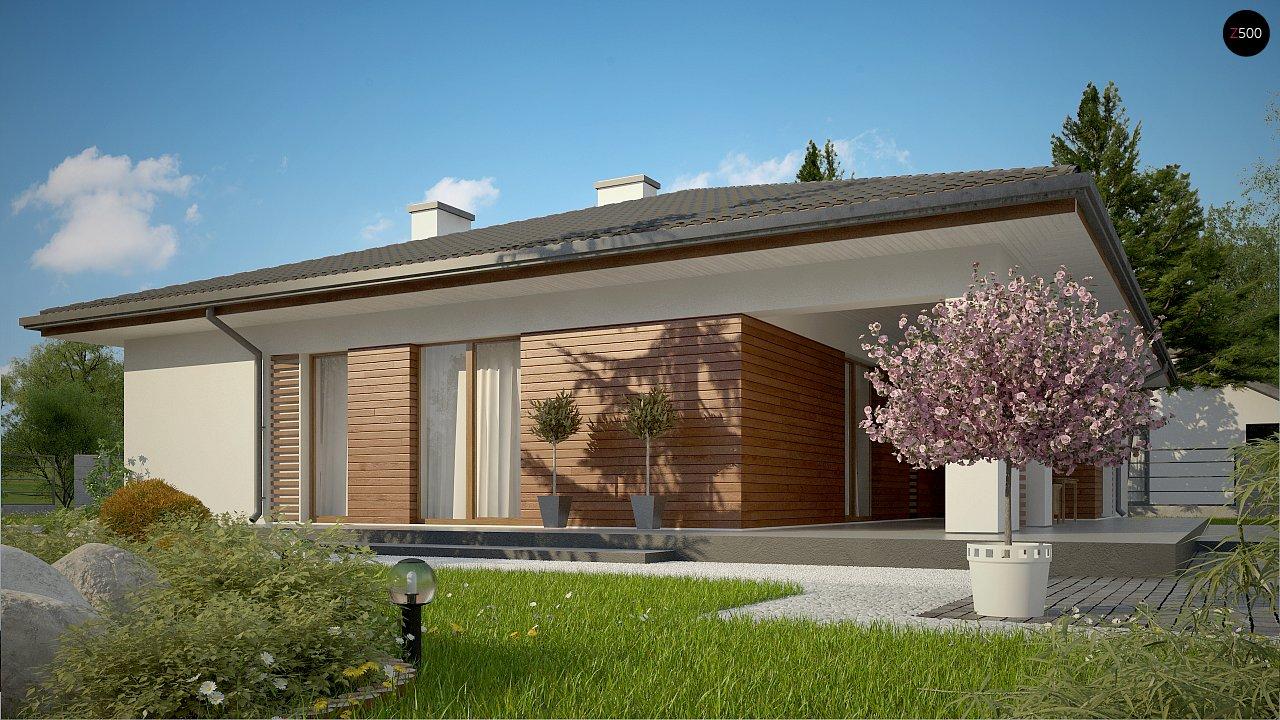 Стильный одноэтажный дом с комфортной крытой террасой 4