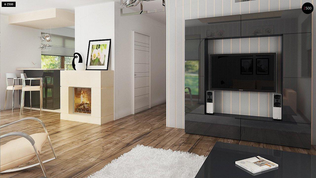 Проект функционального уютного дома с мансардными окнами и оригинальной отделкой фасадов. 8