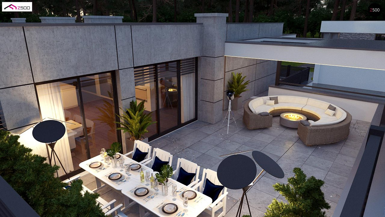 Современный большой дом с плоской крышей - фото 4