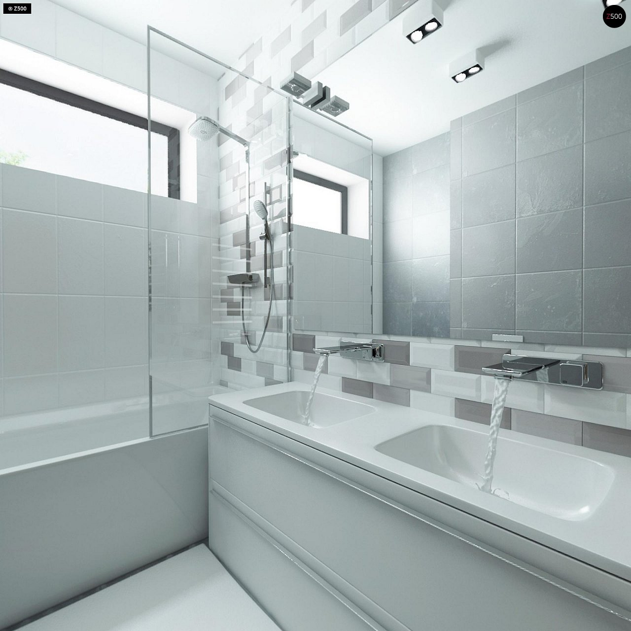 Современный комфортабельный одноэтажный дом с функциональным интерьером и уютной террасой. 17