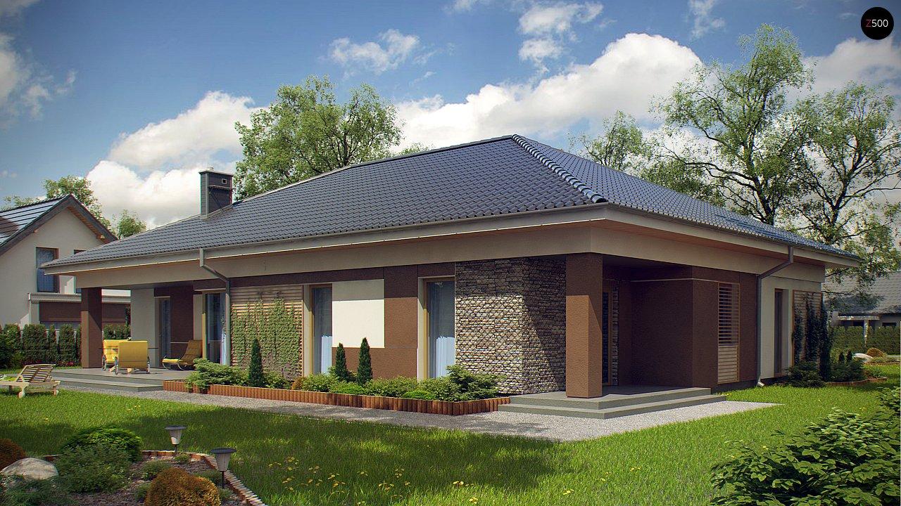 Проект просторного одноэтажного дома с 4 спальнями. - фото 3