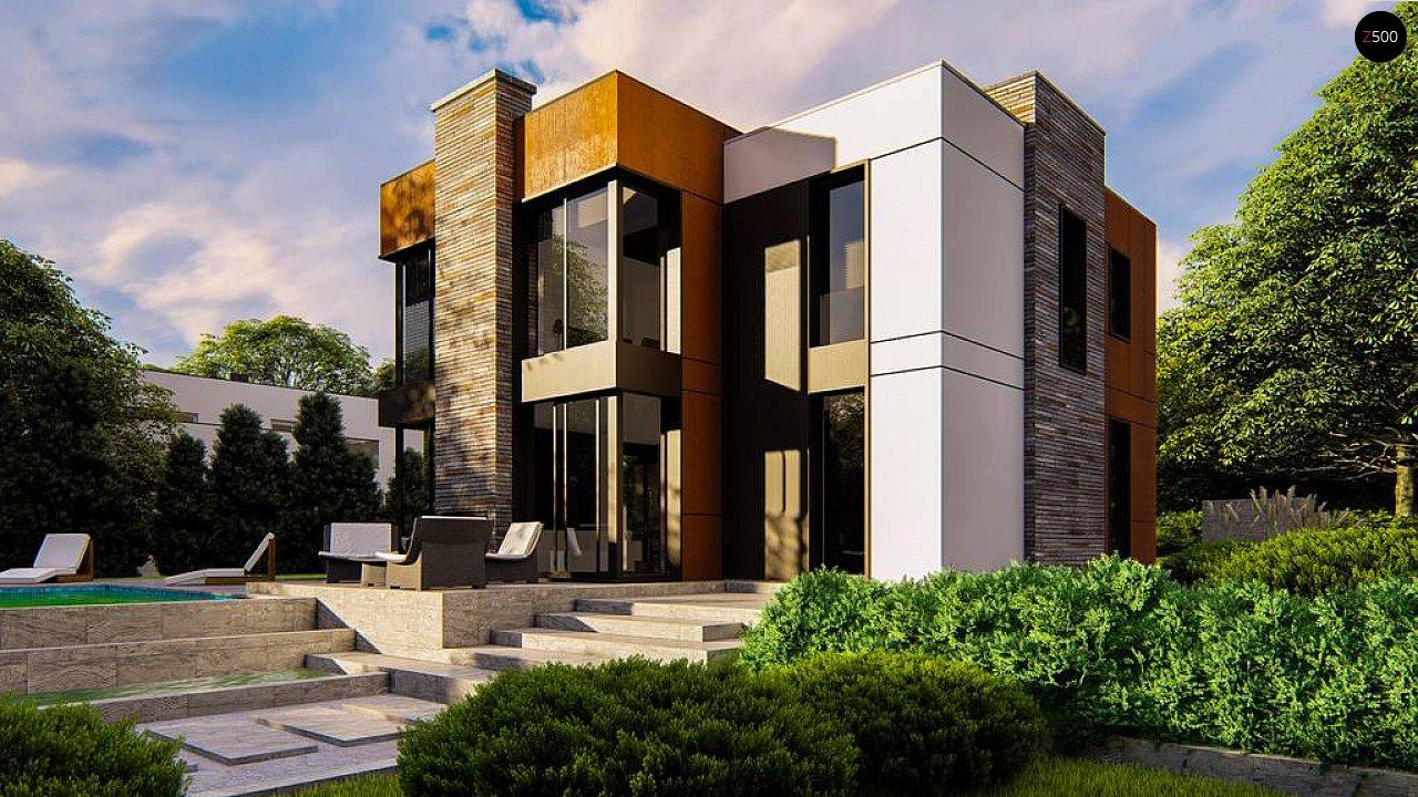 Современный двухэтажный дом без гаража 2