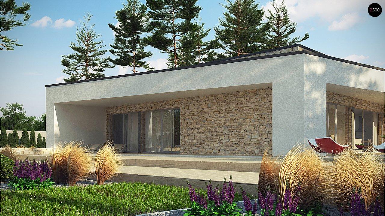 Одноэтажный коттедж с гаражом на одну машину и уютной террасой 6