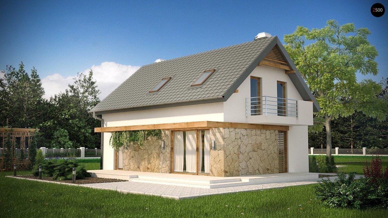 Практичный аккуратный дом с мансардой, с удобной функциональной планировкой. 2