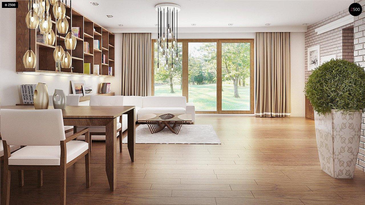 Практичный одноэтажный дом с большим гаражом, просторной гостиной и двумя спальнями. 4