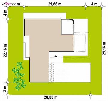 Просторный современный двухэтажный дом план помещений 1