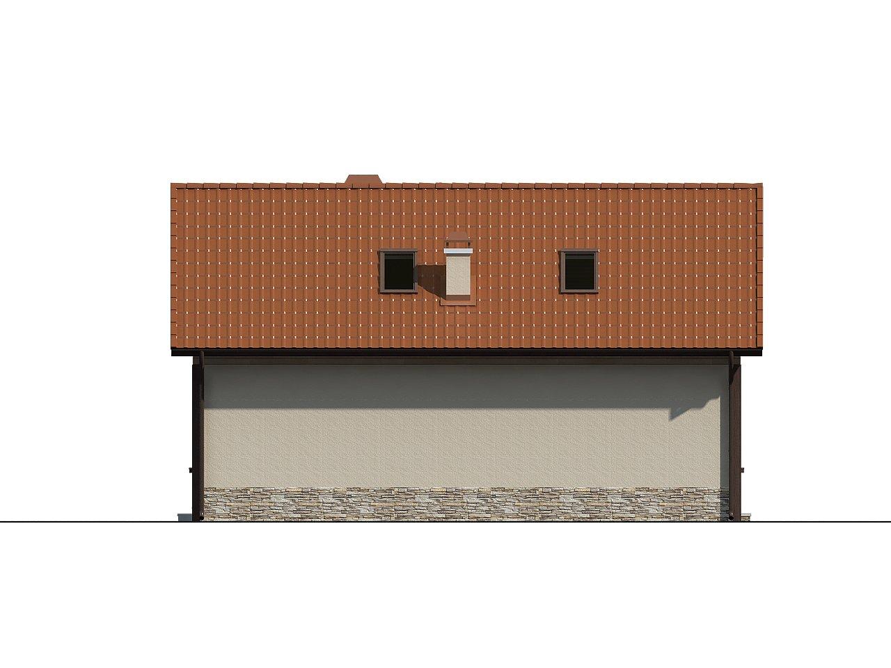 Дом для узкого участка с дополнительной спальней на первом этаже и кухней со стороны сада. 6