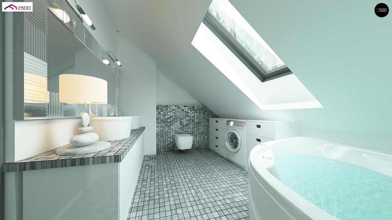 Версия проекта Z122 c дополнительной комнатой на мансарде вместо нового света. 7