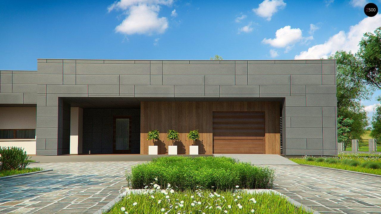 Современный односемейный одноэтажный дом с плоской крышей - фото 10