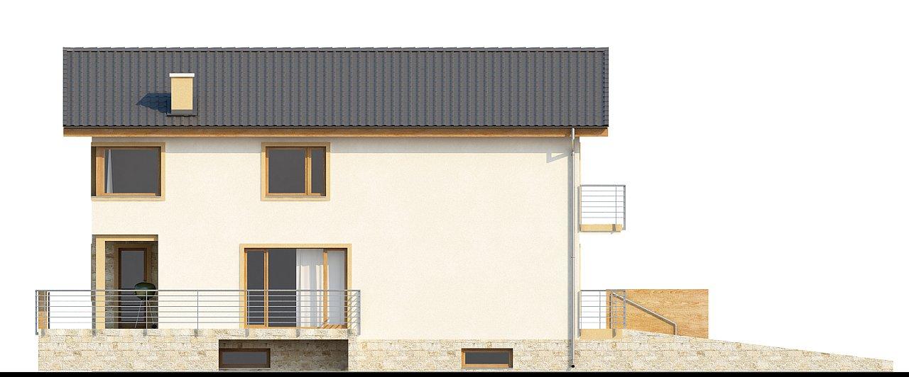 Проект выгодного и практичного двухэтажного дома с подвальным помещение, с дополнительной комнатой на первом этаже. - фото 5