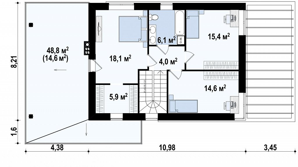 Вариант Zx63 увеличенная версия проекта план помещений 2