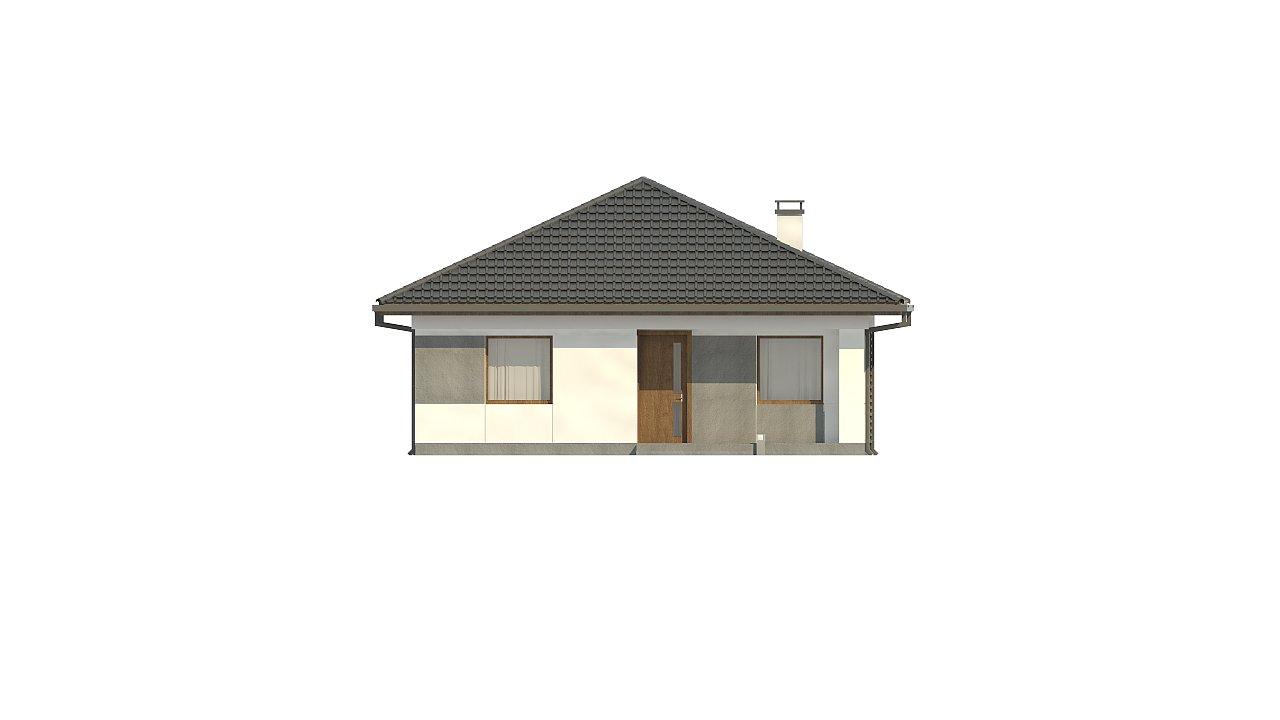 Одноэтажный коттедж с четырехскатной кровлей 18