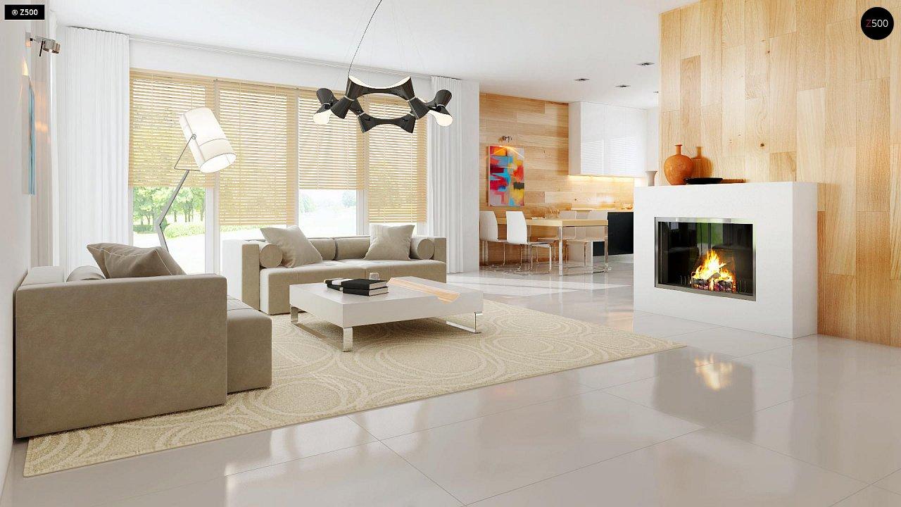 Добротный особняк модернистского характера с большой площадью остекления. 7