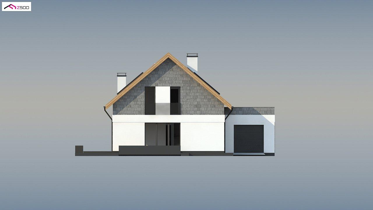 Мансардный дом с гаражом, расположенным с фронтальной стороны фасада - фото 8