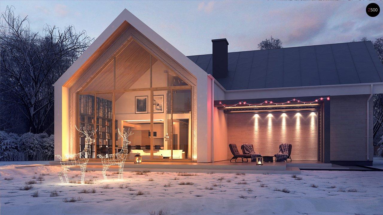 Современный мансардный дом с гаражом на две машины - фото 2
