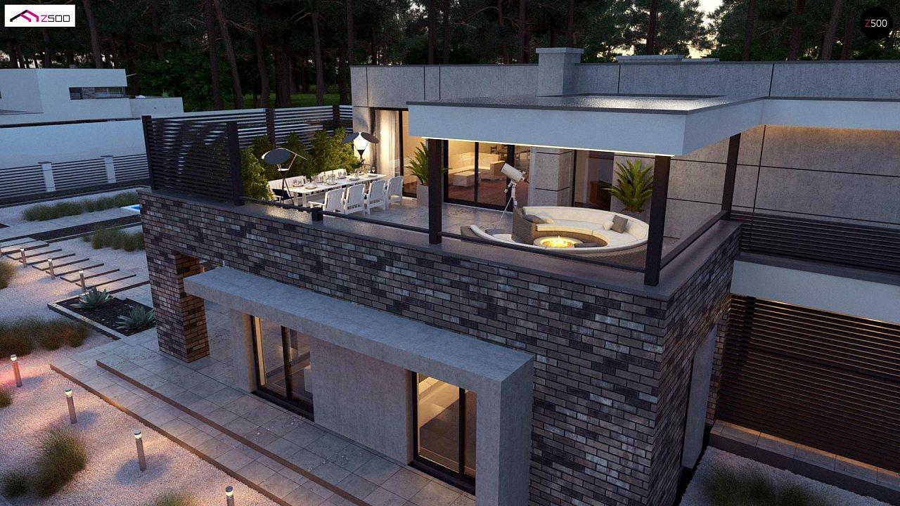 Современный большой дом с плоской крышей - фото 3