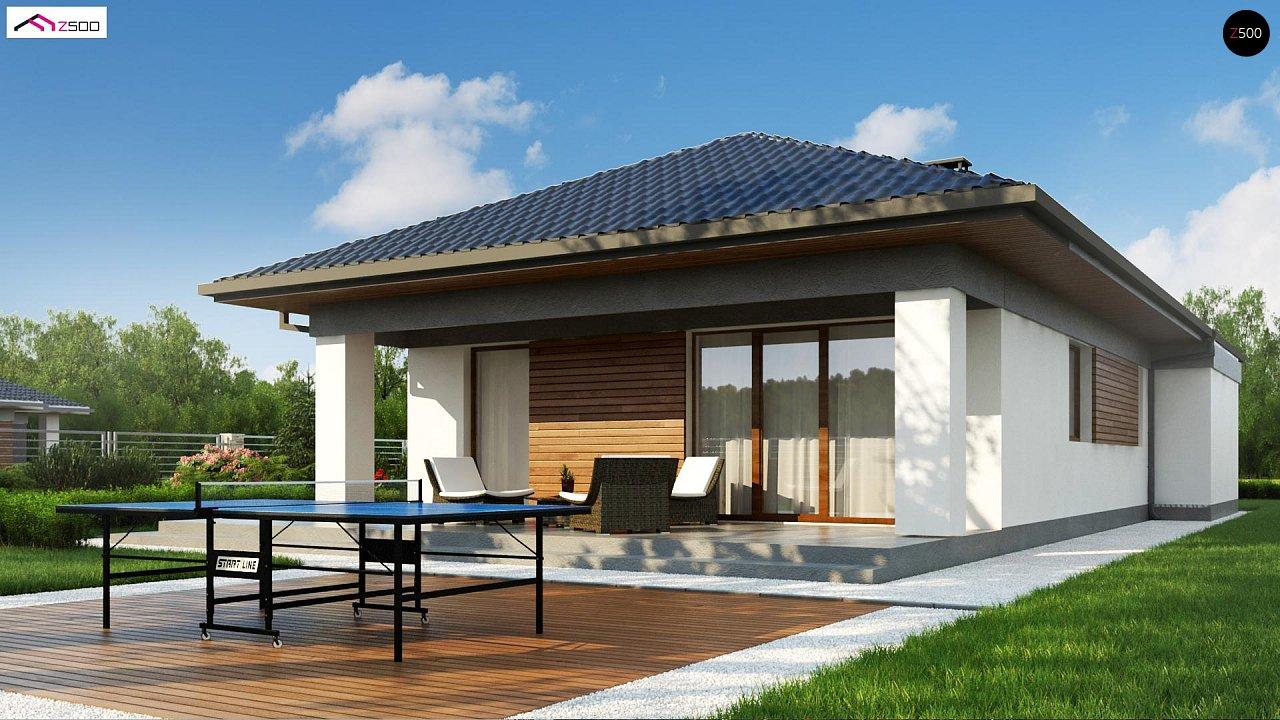 Проект уютного одноэтажного дома с 3 спальнями 5