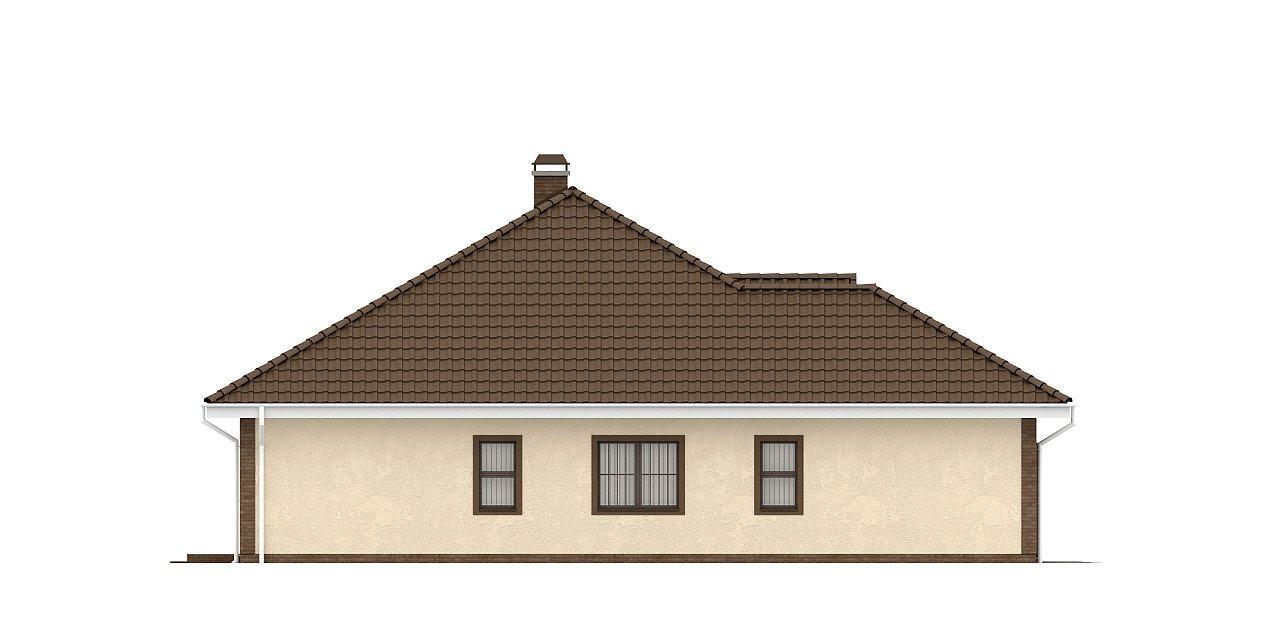 Одноэтажный дом с фронтальным гаражом для двух автомобилей. 23