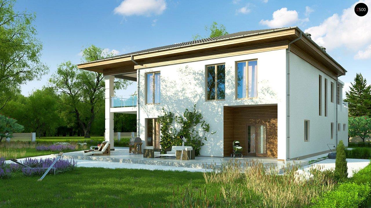 Проект стильного и просторного дома с элементами классической архитектуры. - фото 3