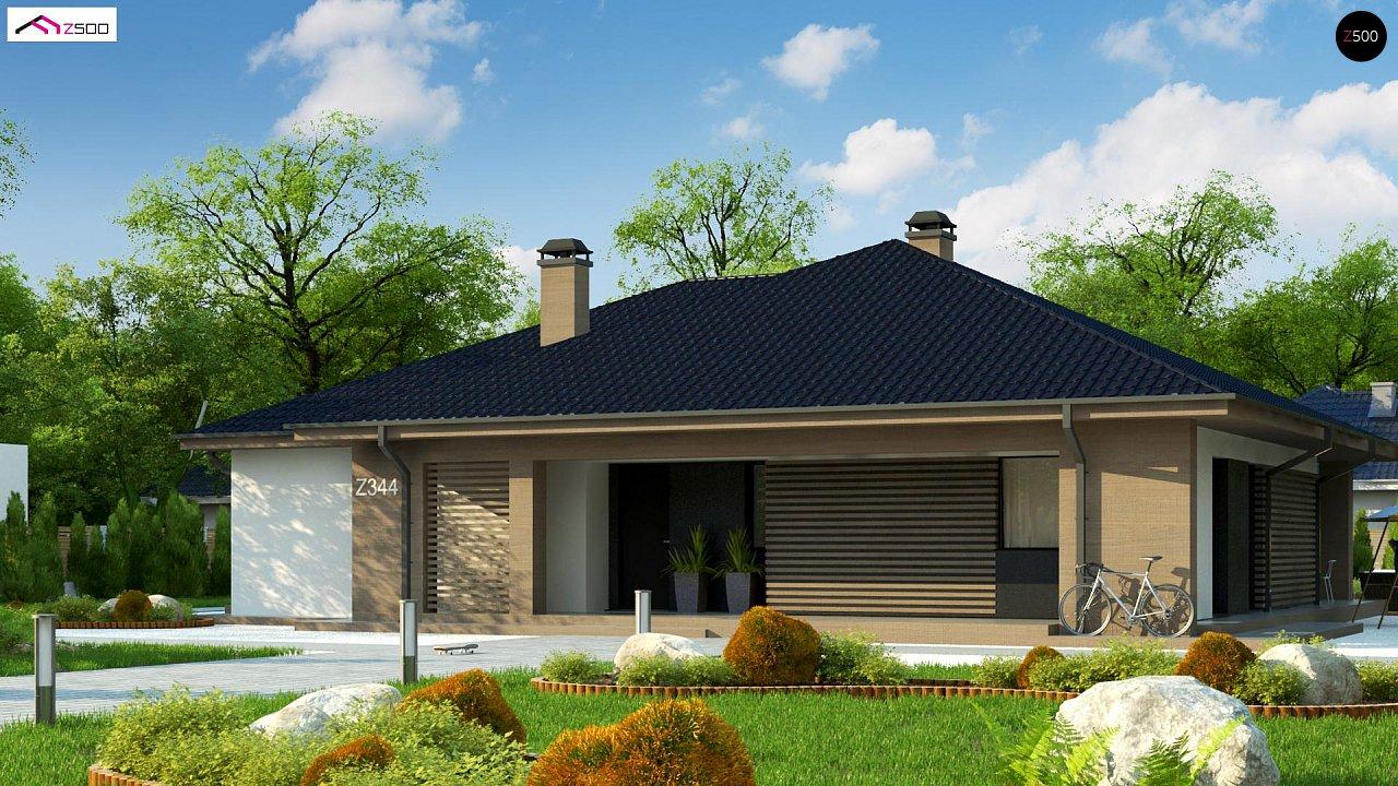 Компактный одноэтажный дом стильного дизайна 2