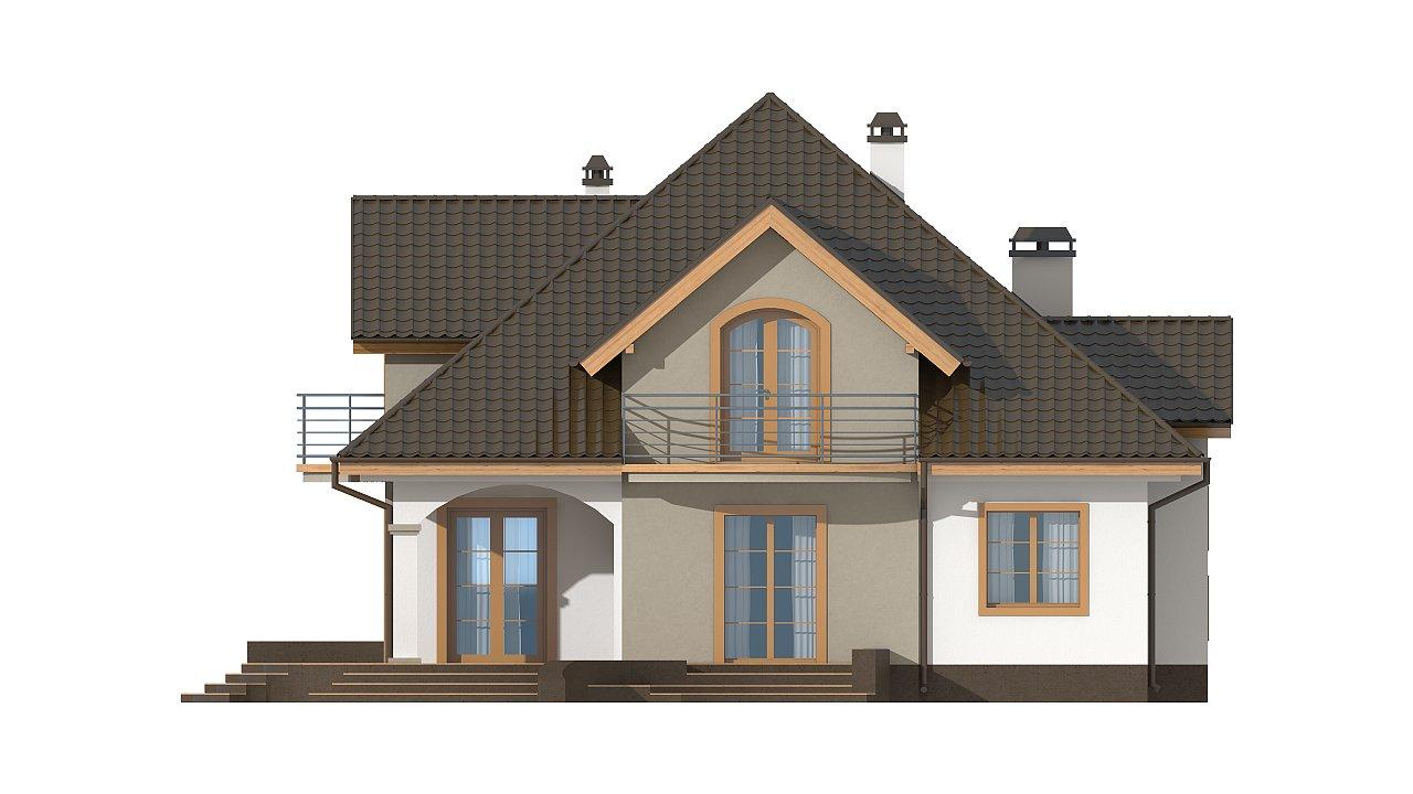 Классический мансардный дом с балконами. 28