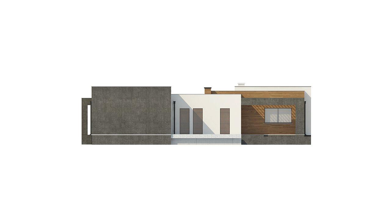 Одноэтажный дом с плоской кровлей и террасой 22