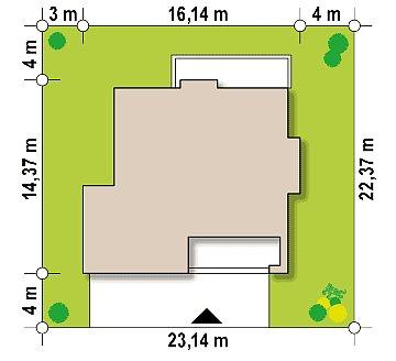 Проект двухэтажного дома с гаражом для двух авто, с баней план помещений 1