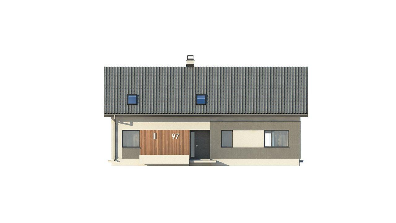 Проект двухсемейного дома с отдельной удобной «квартирой» площадью 58 м2. 3