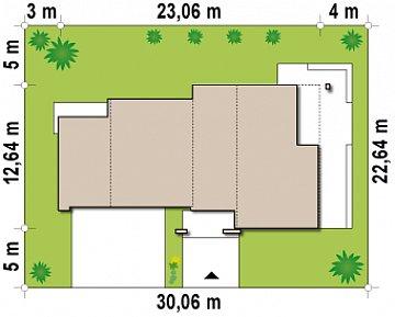 Версия проекта Zx15 с гаражом для двух автомобилей. план помещений 1