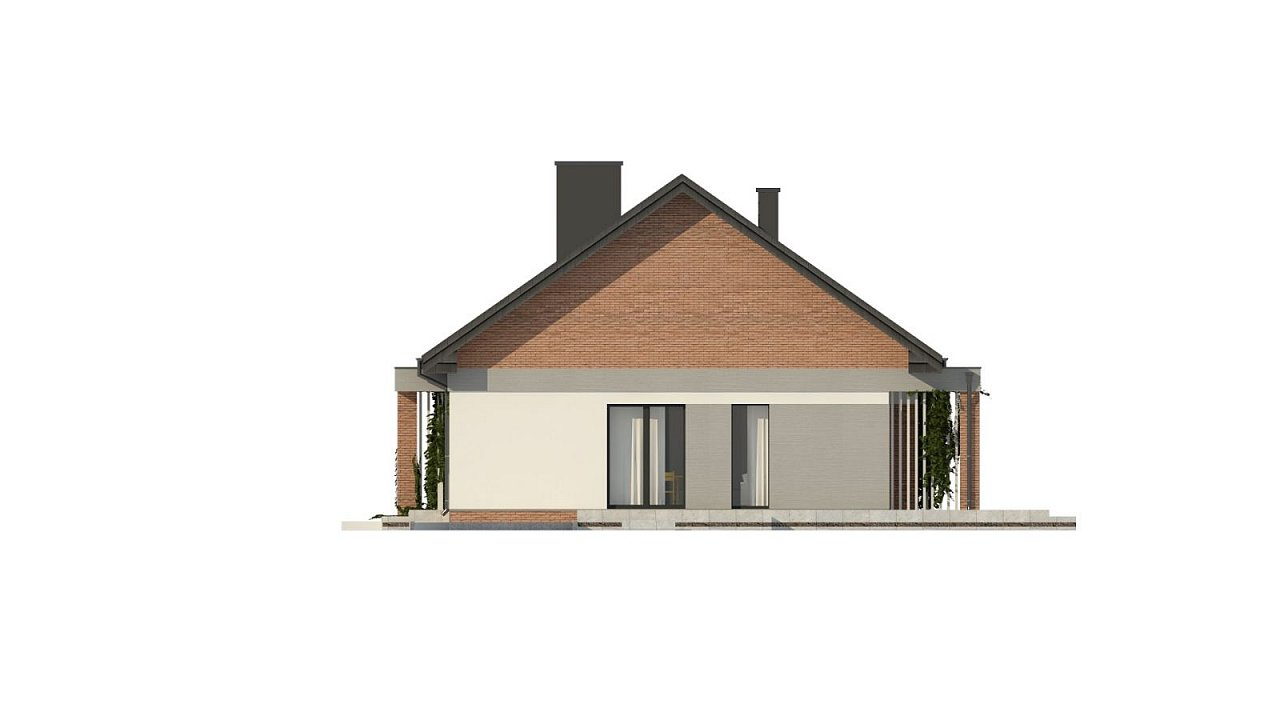 Уютный дом с двускатной кровлей и возможностью обустройства мансарды. 16