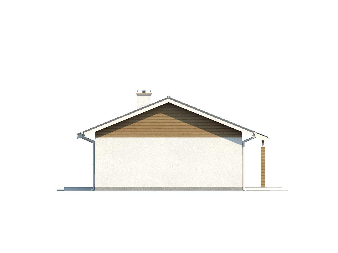 Компактный дом с двускатной крышей — выгодный, функциональный и практичный. 23