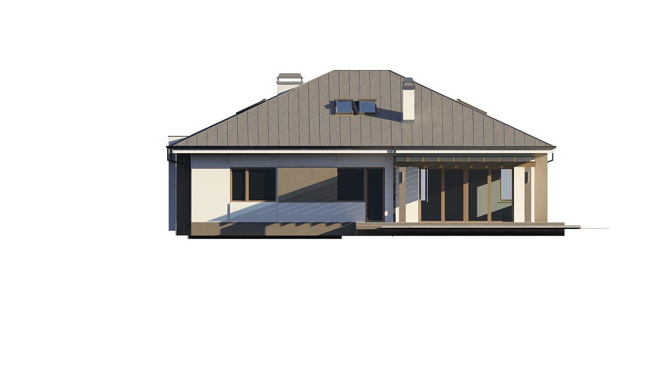 Комфортный элегантный дом с тремя спальнями и выступающим фронтальным гаражом. 16