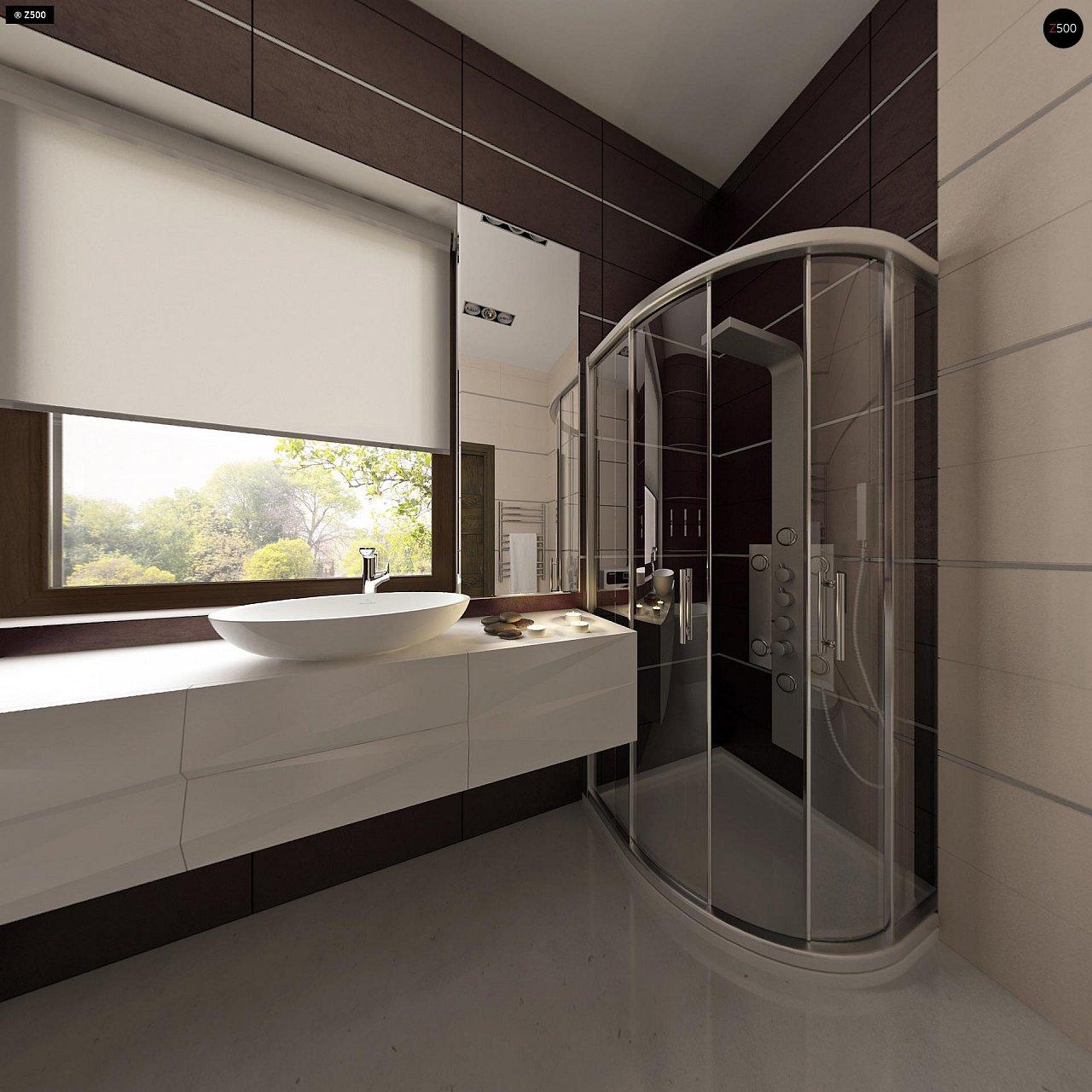 Проект небольшого практичного одноэтажного дома. Есть возможность обустройства чердачного помещения. 13