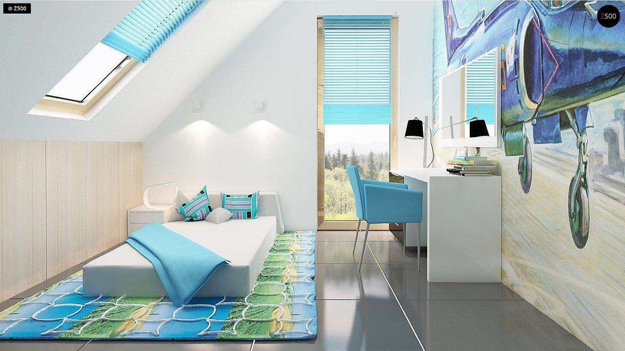 Проект каркасного мансардного дома в классическом дизайне 10