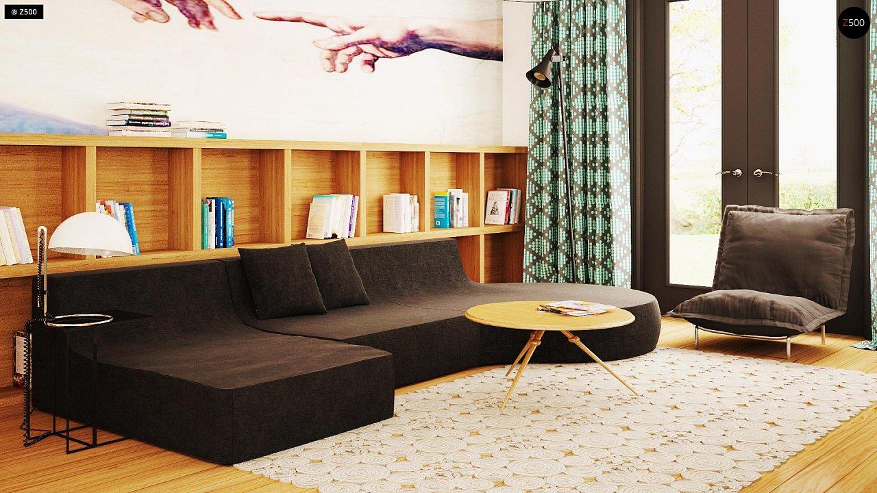 Практичный одноэтажный дом с гаражом для двух автомобилей и большим хозяйственным помещением. 4