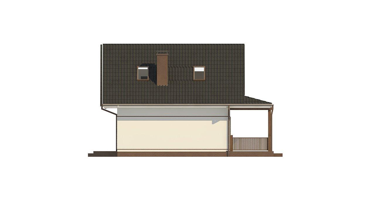 Небольшой мансардный дом с верандой, подойдет для строительства на узком участке. - фото 11
