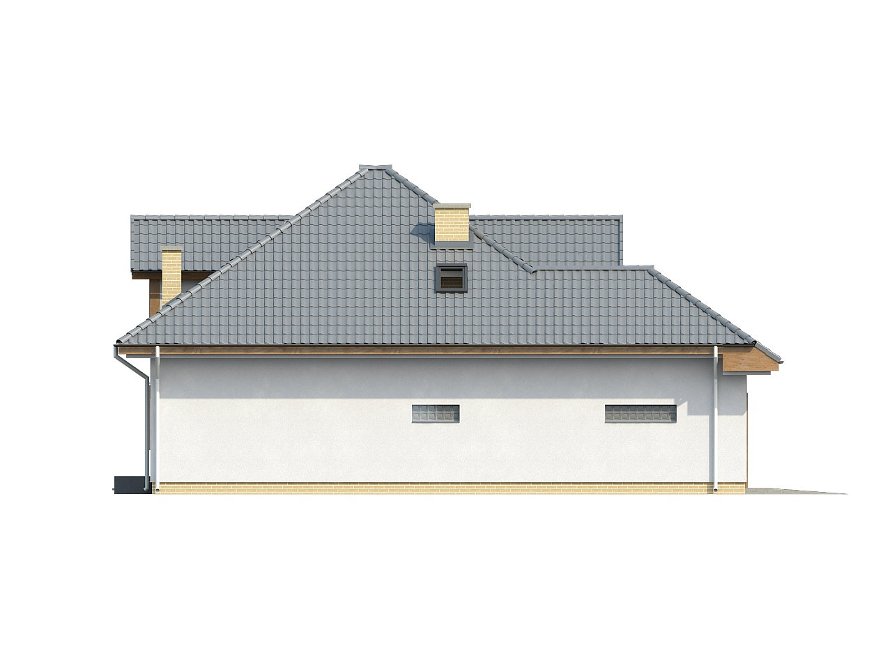 Проект дома с мансардой, с большим техническим помещением и дополнительной спальней на первом этаже. - фото 5