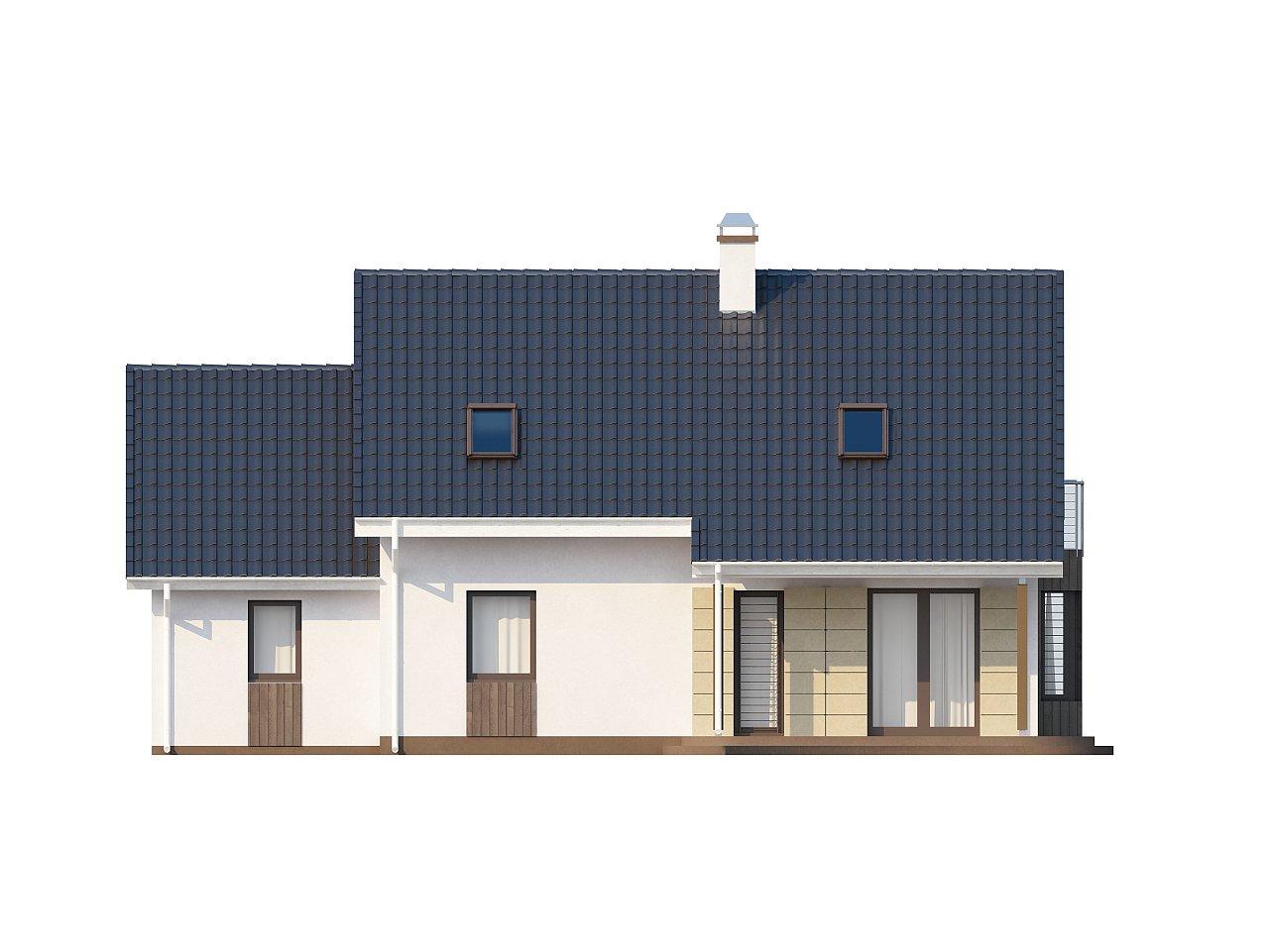Выгодный в строительстве и эксплуатации дом с дополнительной спальней на первом этаже. - фото 4