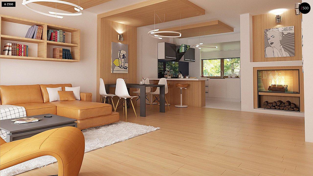 Проект одноэтажного классического дома адаптированного для каркасной технологии строительства. - фото 6